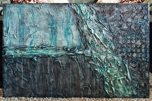 "Custom Made 36x24 Original Modern Textured Contemporary Abstract Painting By Alisha ""New Continent"""