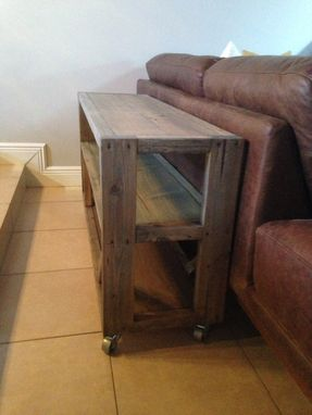 Custom Made Rustic Sofa - Console Table With Cast Iron Wheels // Rustic // Console Table // Sofa Table