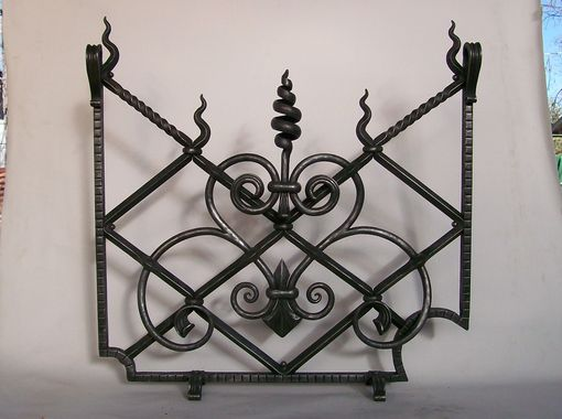 Custom Made Decorative Hand Forged Firescreen