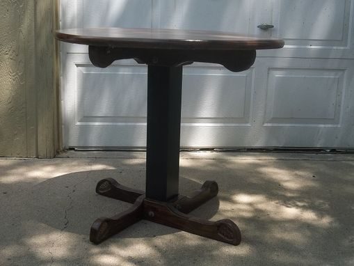 "Custom Made 36"" Pedestal Dining Table"