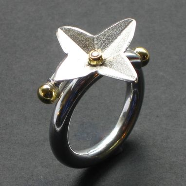 Custom Made Sterling Diamond North Star Ring