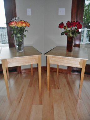 Custom Made Custom Maple End Tables