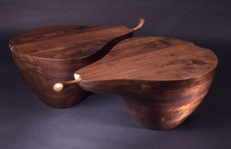 Custom Made Pair Of Pear Tables. See Www.Marklevin.Com For Current Price And More Information.