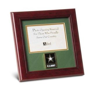 Custom Made Go Army Medallion Landscape Picture Frame