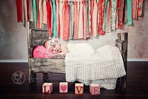 Custom Made Rustic Baby Bed Prop