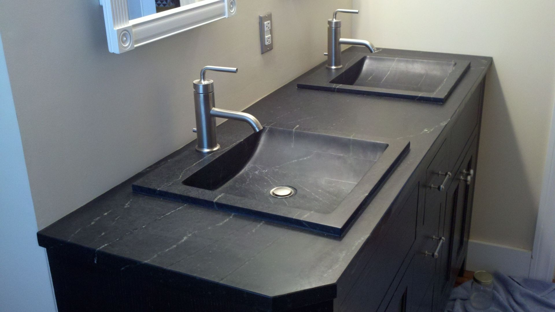 Buy A Custom Soapstone Vanity Made To Order From Industrial Stone