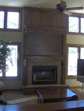 Custom Made Raised Pannel Fireplace Surround