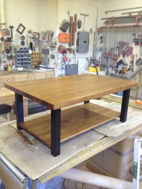 Custom Made Hickory Contemporary Coffee Table