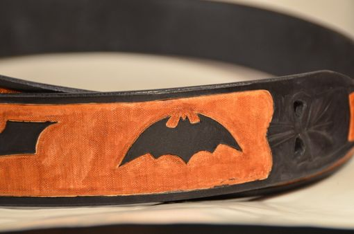Custom Made Original Designed Batman Leather Belt