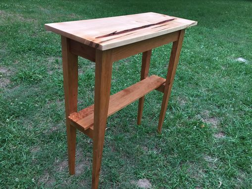 Custom Made Cherry And Maple Hall Table