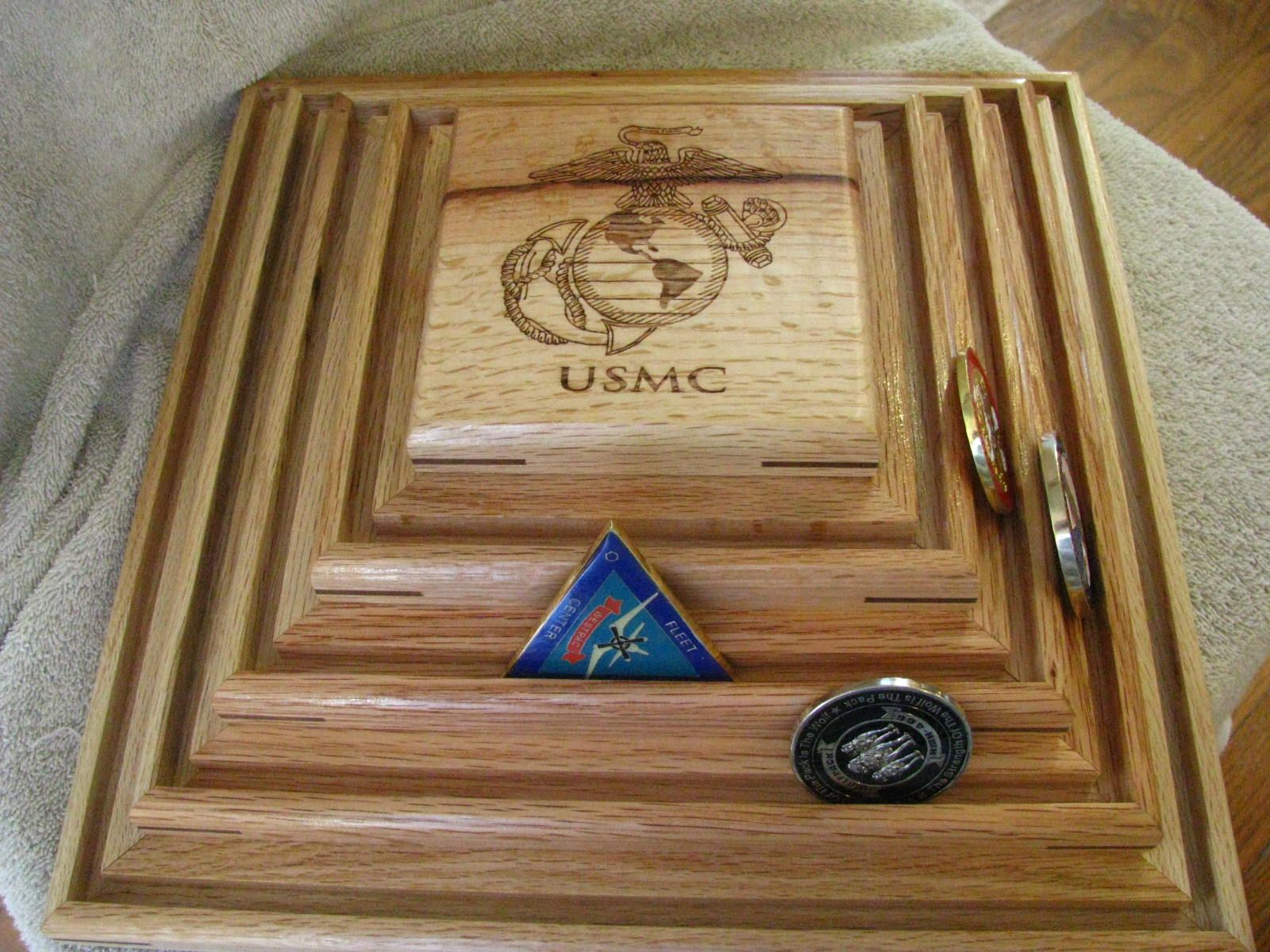 Buy a Hand Crafted Military Challenge Coin Display, made to order