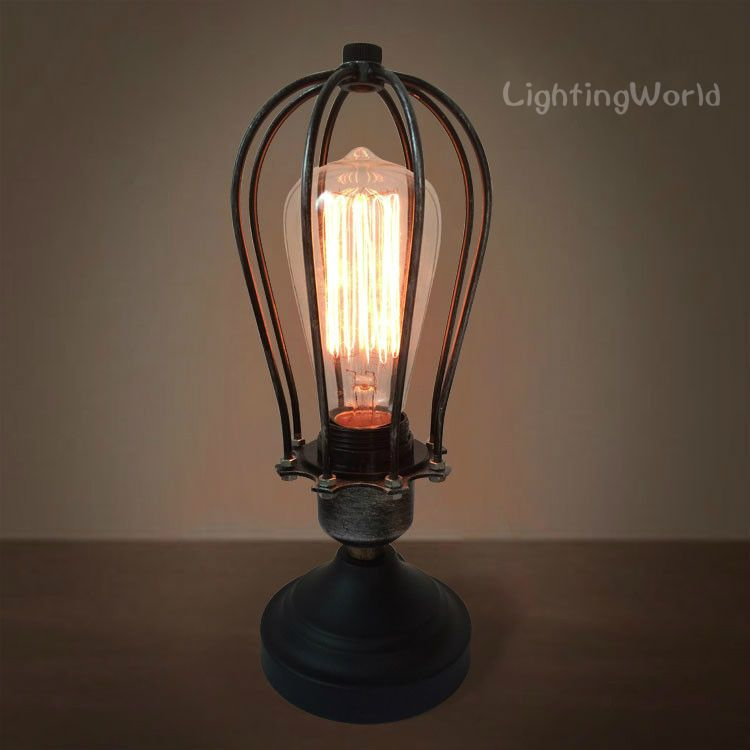 Industrial Big Table Lamps Vintage, Big Bulb Table Lamp