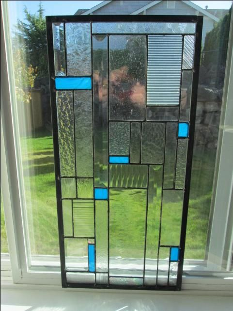 Hand Made Stained Glass Cabinet Door Insert By Chapman Enterprises