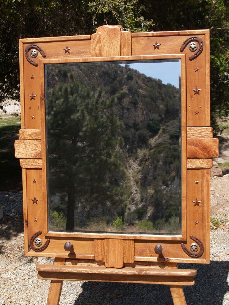 Handmade Rustic Mirror By Art Of Wood Custommade Com