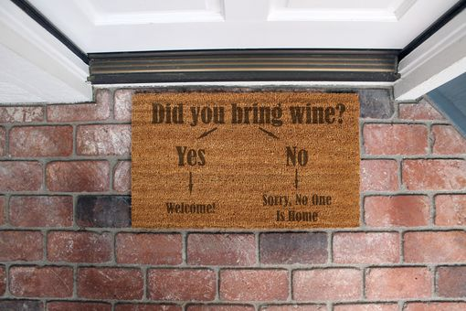 Custom Made Custom Door Mats --Dm-Coir-Wine