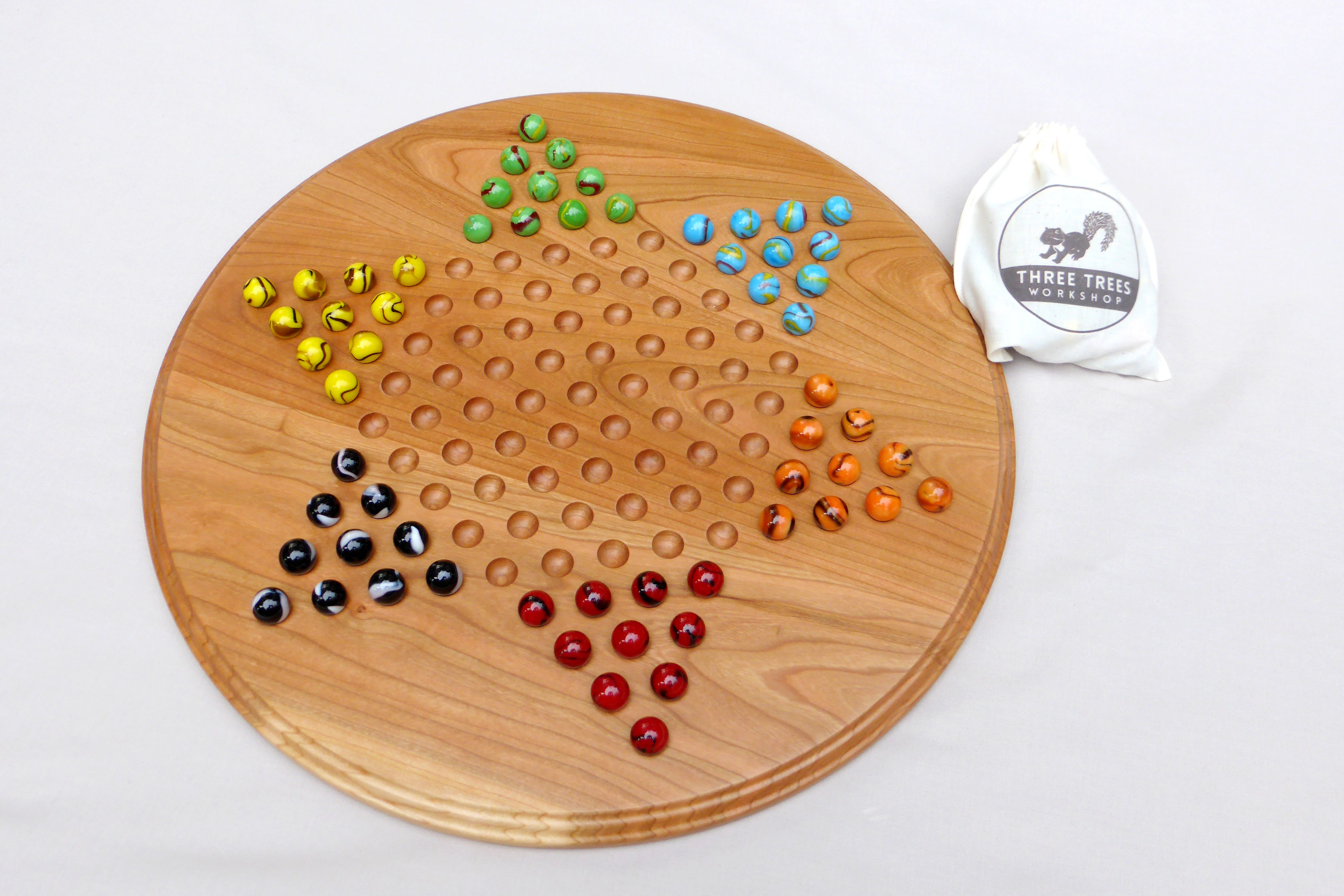 Buy Hand Made Chinese Checkers Game Board With Marbles Made To