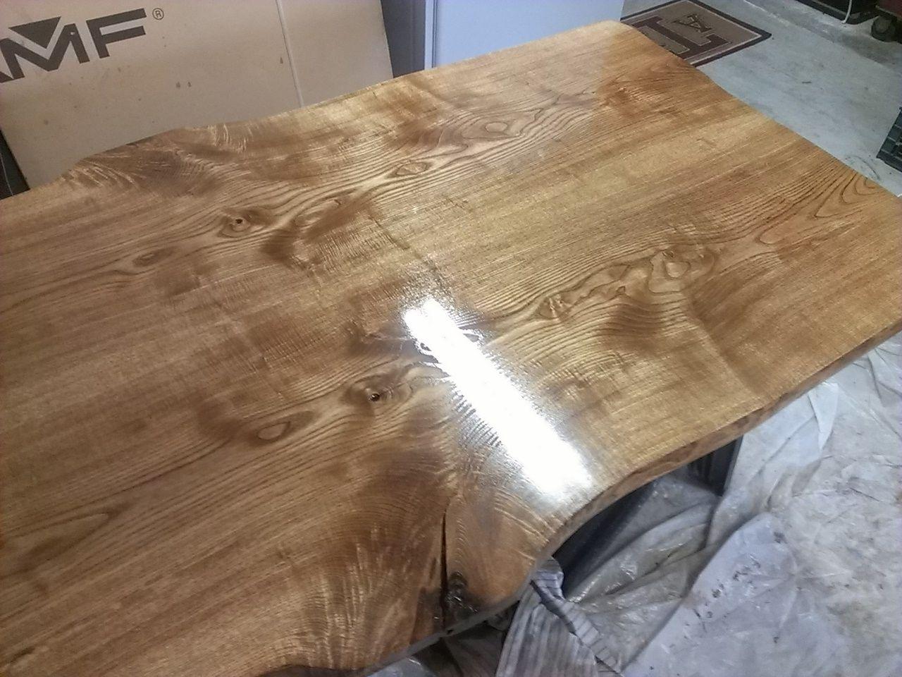 Ash Wood Furniture ~ Custom ash slab modern dining table by refined elements