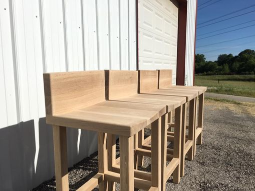 Custom Made Low Back Bar Stool