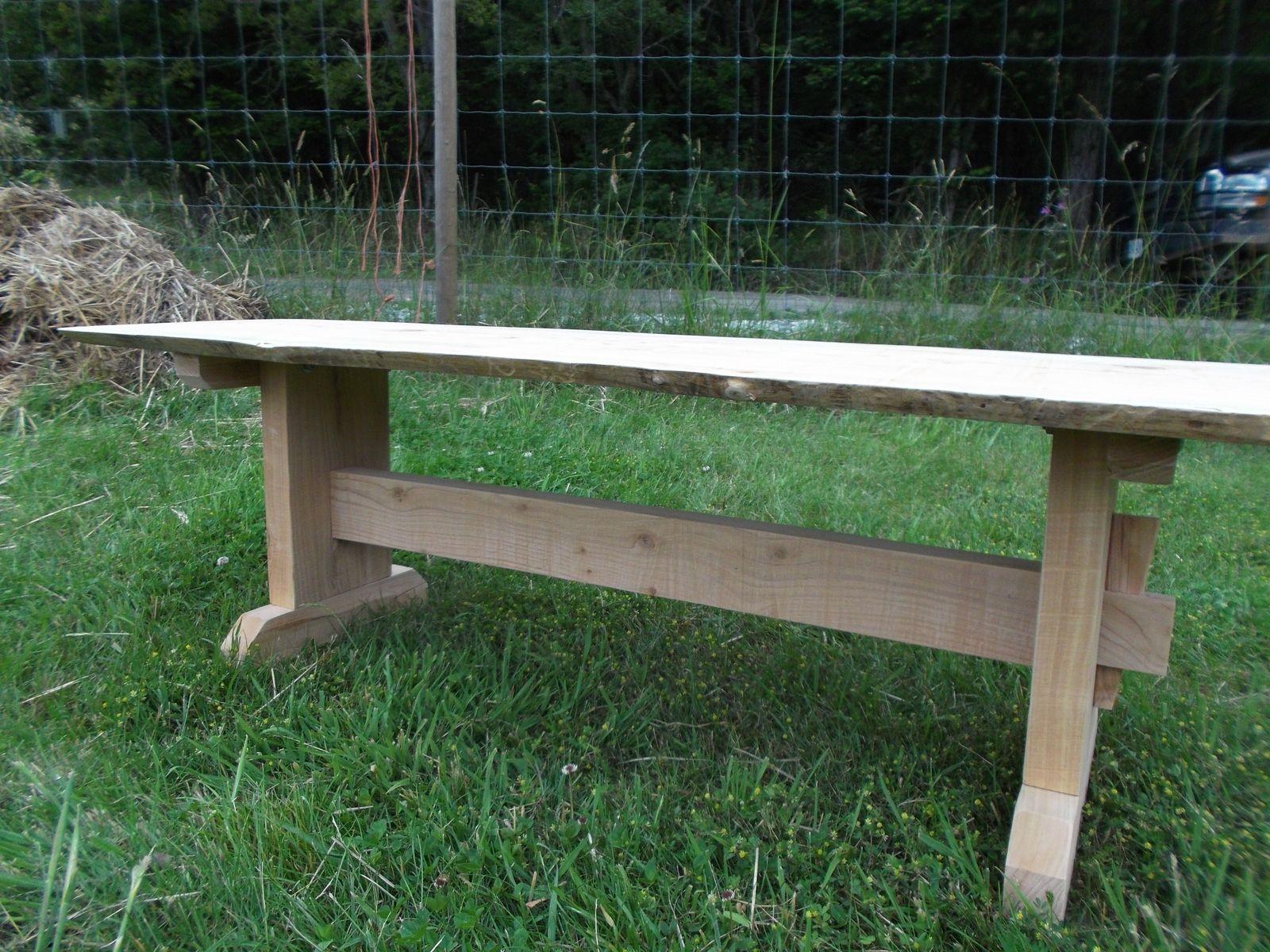 Magnificent Handmade Cedar Table Bench By Gleneagle Woodworks Creativecarmelina Interior Chair Design Creativecarmelinacom