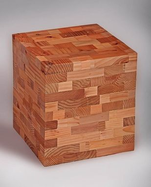 Custom Made Cubed Stool