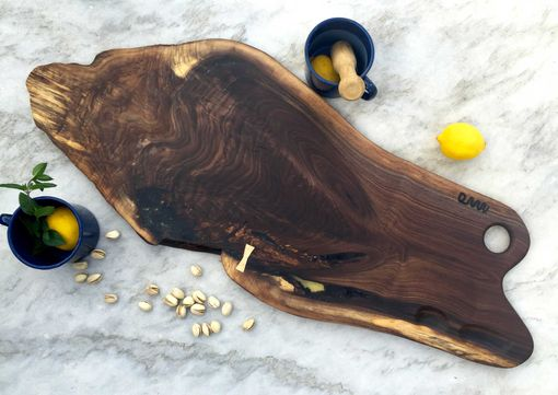 Custom Made Walnut Wood Charcuterie, Cheese, Bread, Serving Or Cutting Board