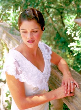 Custom Made Informal Bridal Gown With A Romantic Flair