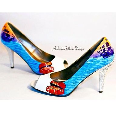 Custom Made Custom Mini Mural Wedding Heels