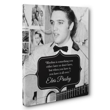 Custom Made Elvis Presley Motivation Quote Canvas Wall Art