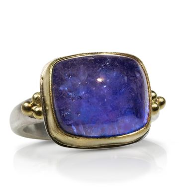 Custom Made Tanzanite Cabochon Ring