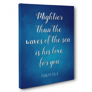 Custom Made Mightier Than The Waves Canvas Wall Art