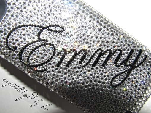 Custom Made Mophie Crystallized Iphone Charging Battery Case Bling Charger W/Swarovski Crystals Bedazzled