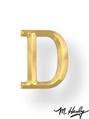 Custom Made Brass Monogram Letter D