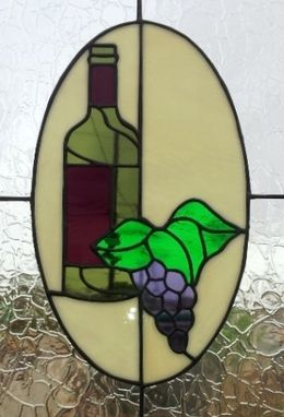 Custom Made Stained Glass Cabinet Inserts - Wine Theme (Ci-10)