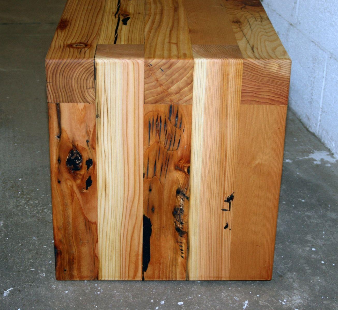 Hand made reclaimed cedar box joint bench coffee table by - Hand Made Reclaimed Cedar Box Joint Bench Coffee Table By Historicwoods By Lunarcanyon Custommade Com