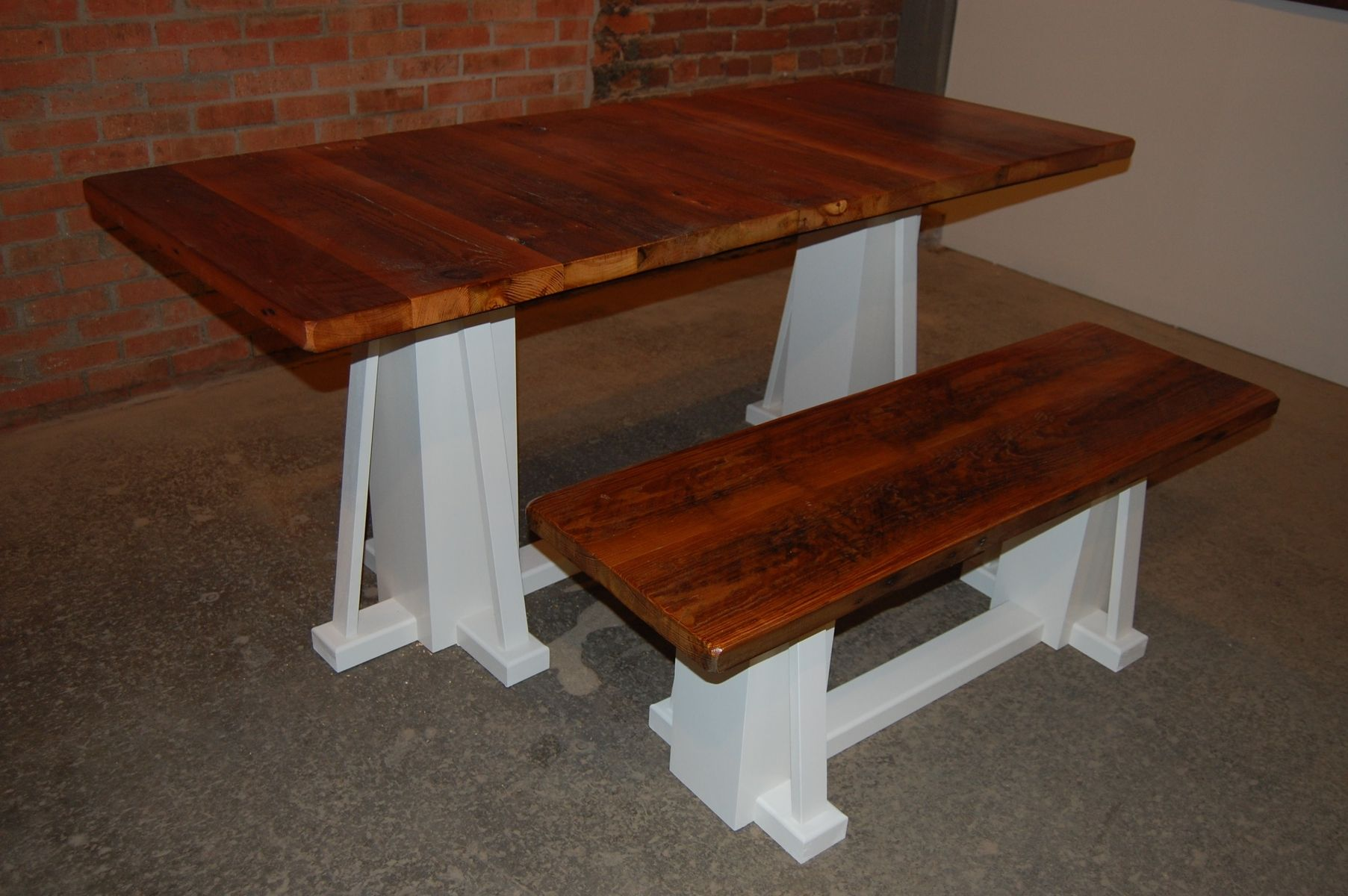 Custom Reclaimed Barnwood Kitchen Dining Table And Bench by ...