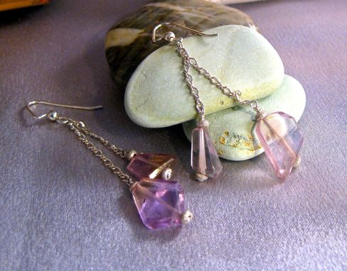 "Custom Made ""Love"" Custom Earrings Ametrine And Sterling Silver"