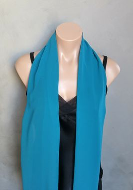 Custom Made Teal Chiffon