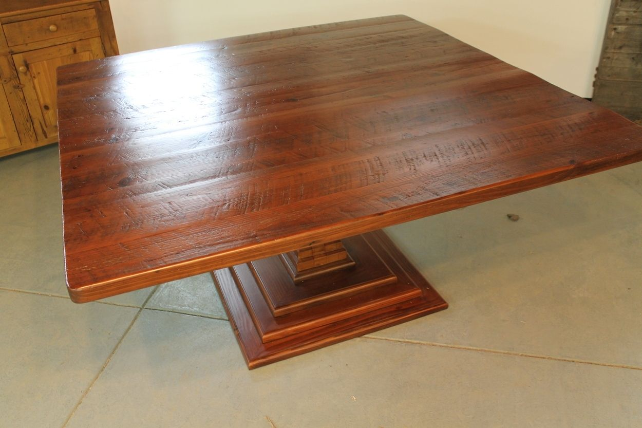Hand Made Square Dining Table By ECustomFinishes Reclaimed - 72 x 72 square dining table