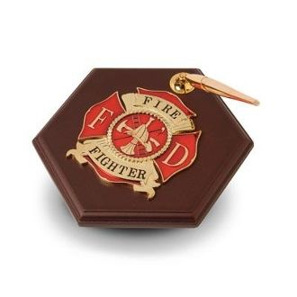 Custom Made Firefighter Medallion Pen Holder