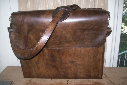Custom Made Leather Laptop Carry Bag