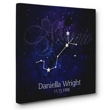 Custom Made Zodiac Sagittarius Personalized Canvas Wall Art
