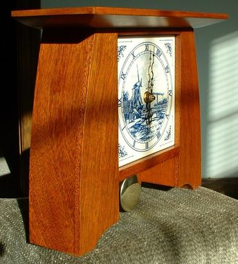 Custom Made Limbert Mahogany Mantle Clock - Arts And Crafts Inspired
