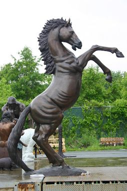 Custom Made 10 Feet! Giant Rearing Horse Bronze Statue | Life Size Bronzes Bronze Sculptures - Lost Wax Casting