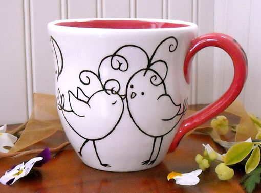 Custom Made Custom Love Birds Coffee Mug