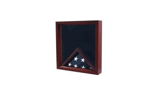 Custom Made Fireman Flag And Medal Display Box - Medal Presentation Box
