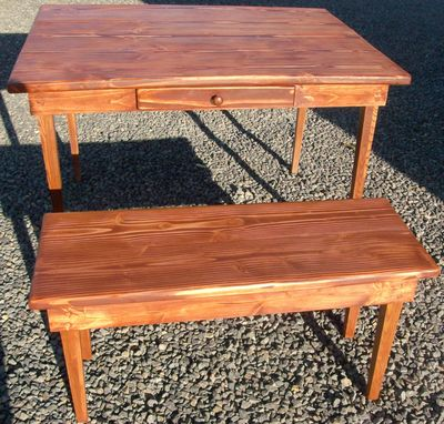 Custom Made Shaker Style Dinette Table And Bench