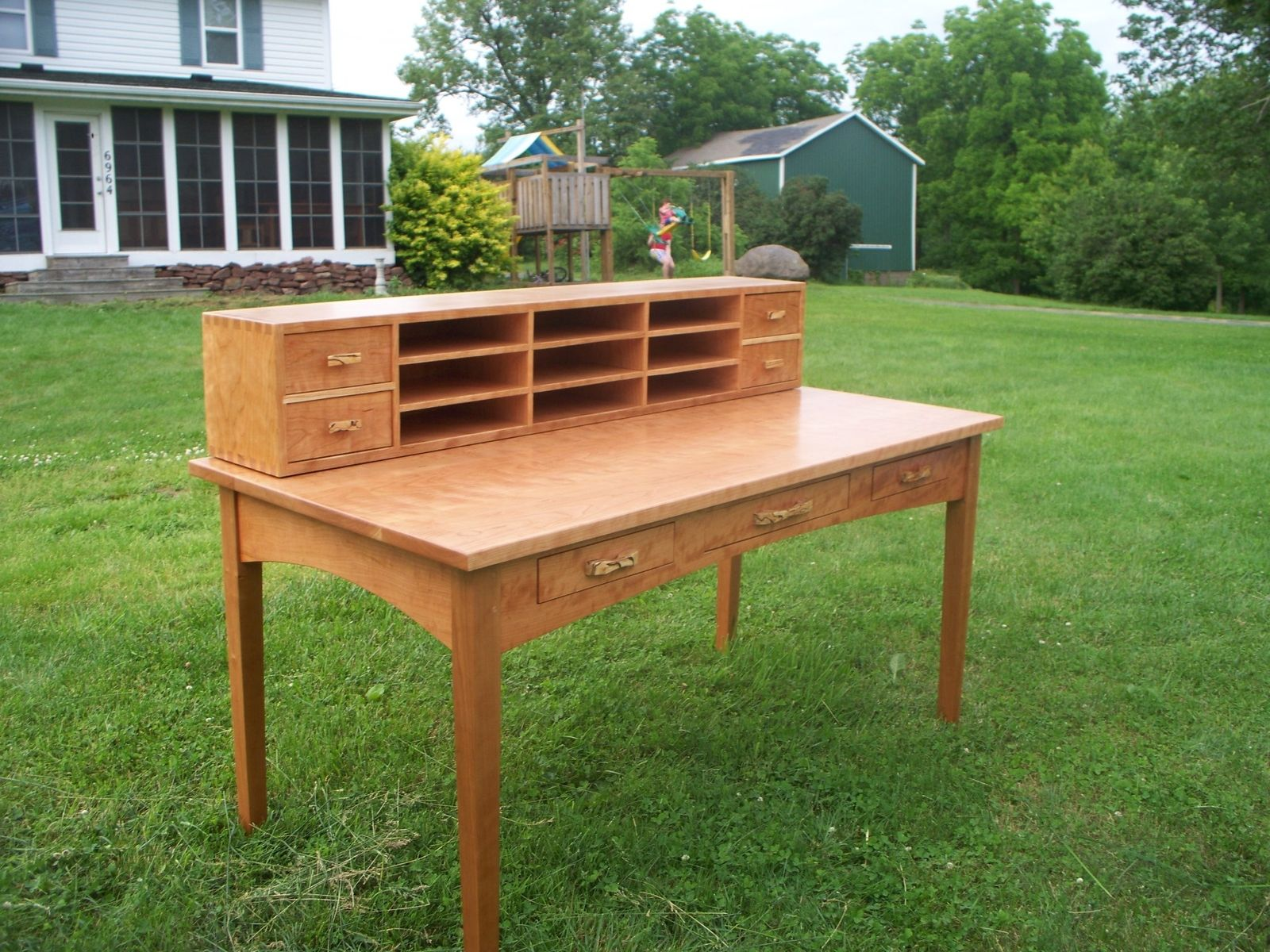 Hand Crafted Shaker Desk In Cherry By Berenguer Fine Furniture