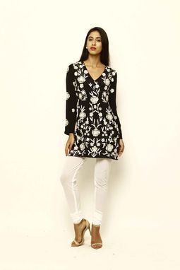 Custom Made Women's Embroidered Silk Tunic