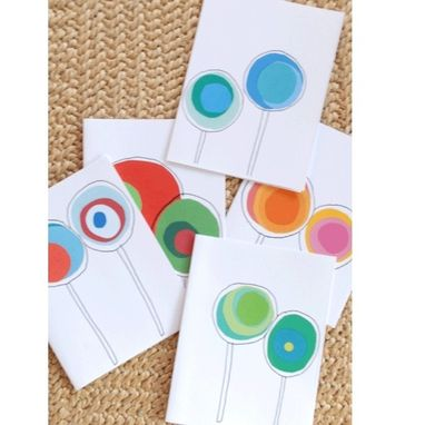 Custom Made Lollipop Notecards