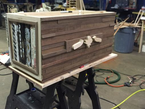 Custom Made Custom Hockey Stick Blanket Chest